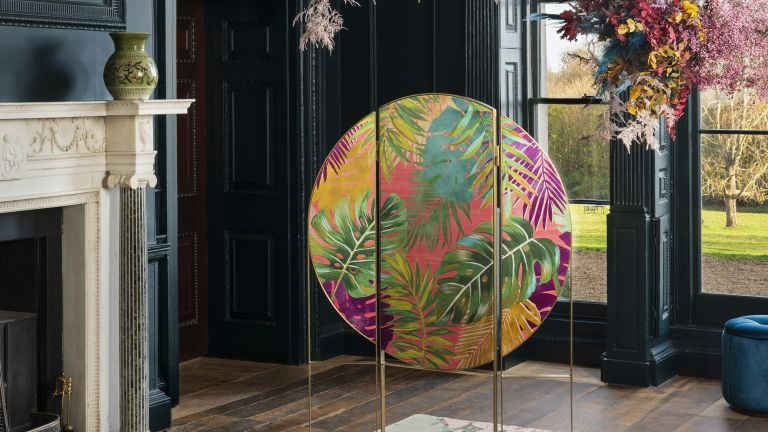 Folding screen room dividers by ROOME London X Matthew Williamson