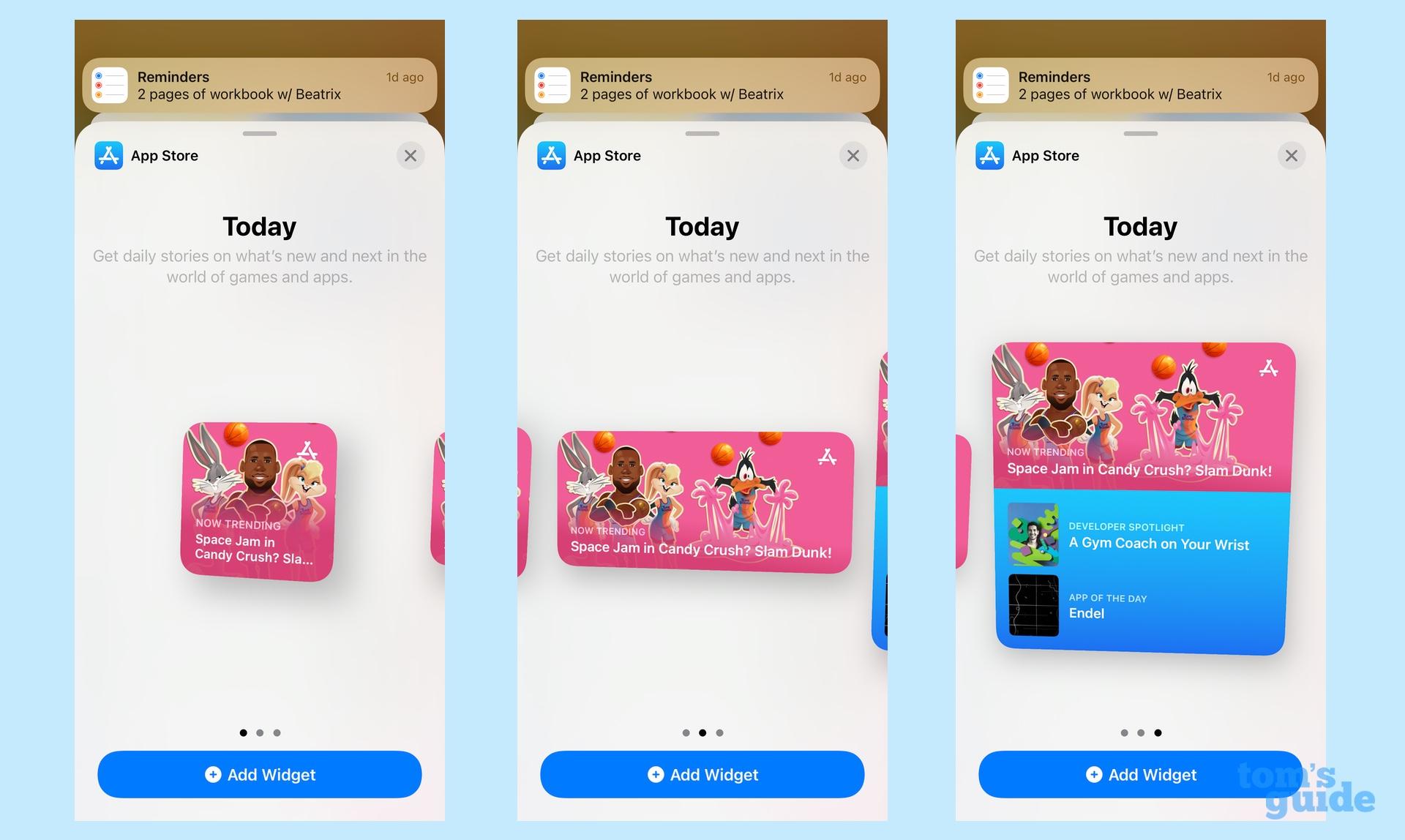 Магазин приложений виджетов iOS 15