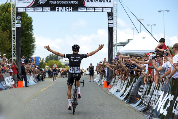 Kristian House Rapha Condor Sharp wins stage one Tour of South Africa.jpg