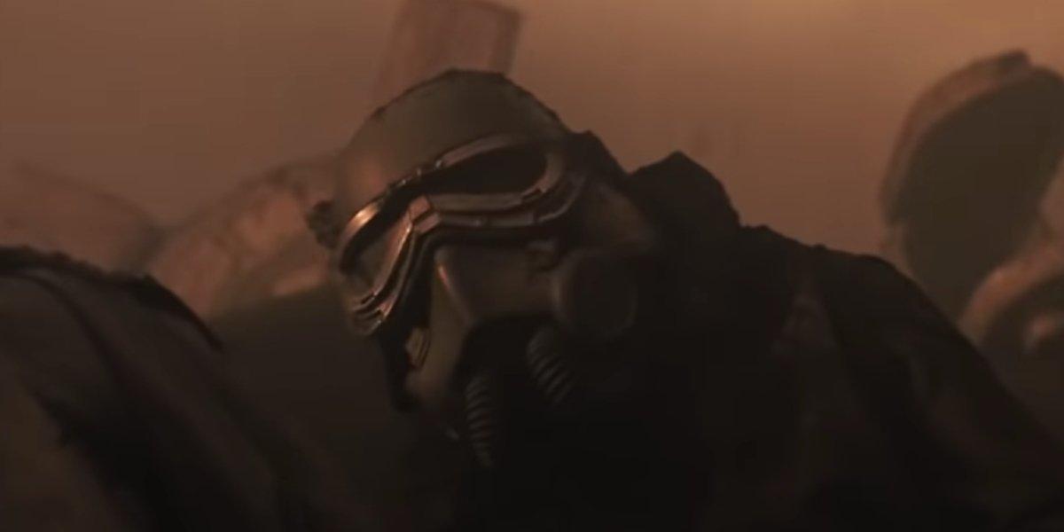 A swamp trooper in battle in Solo: A Star Wars Story