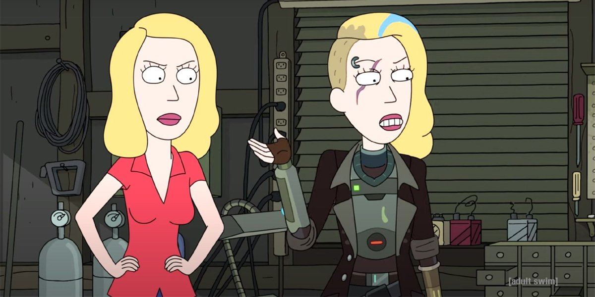 Rick and Morty Beth and Space Beth