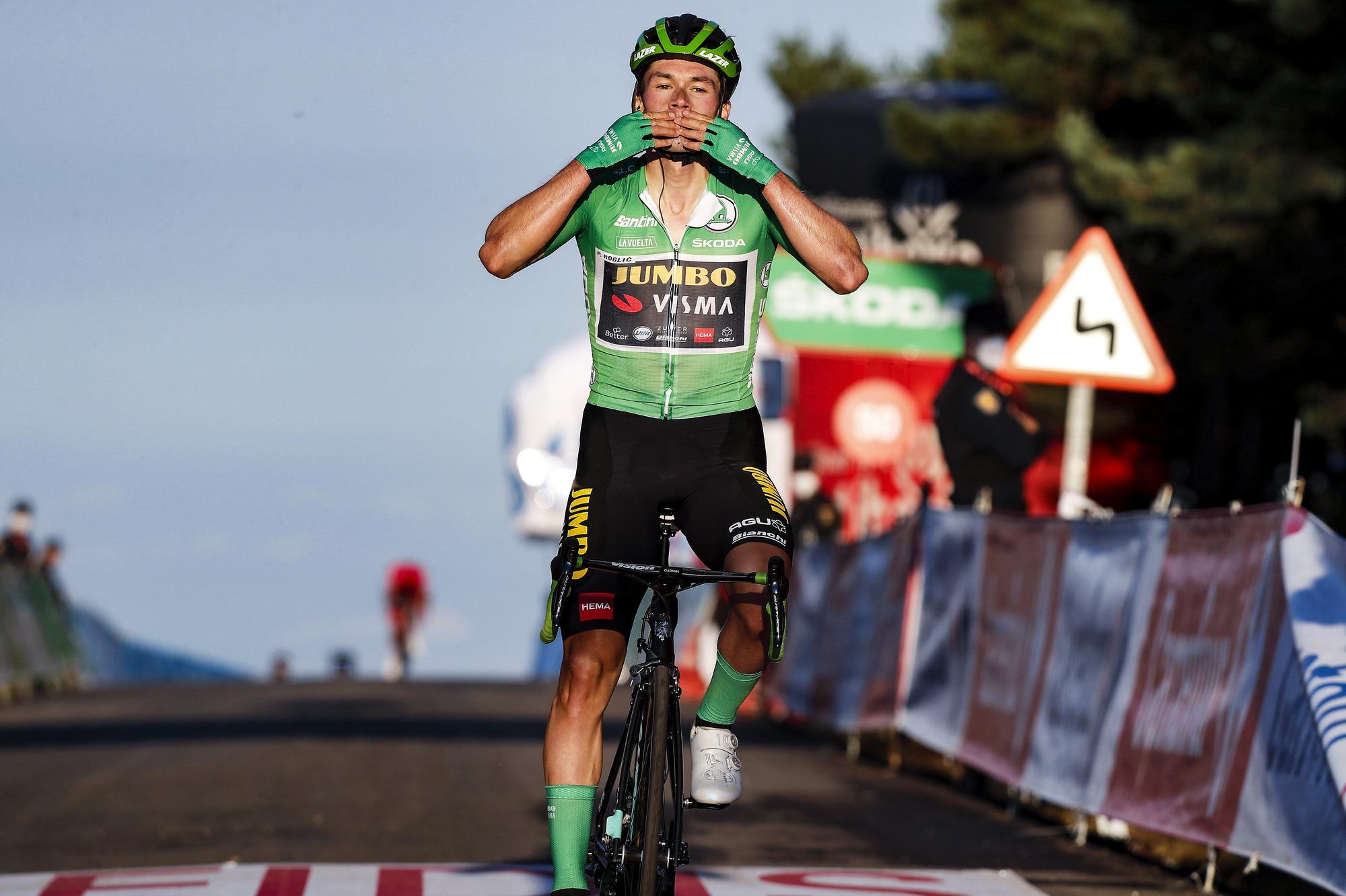 Vuelta Espana 2020 - 75th Edition - 8th stage Logrono - Alto de Moncalvillo 164 km - 28/10/2020 - Primoz Roglic (SLO - Team Jumbo - Visma) - photo Luis Angel Gomez/BettiniPhoto©2020