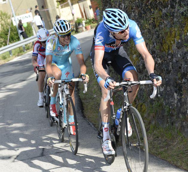 Ryder Hesjedal attacks, Giro d'Italia 2013, stage three
