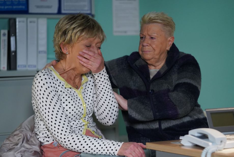 Jean is overwhelmed at her oncology appointment in EastEnders.