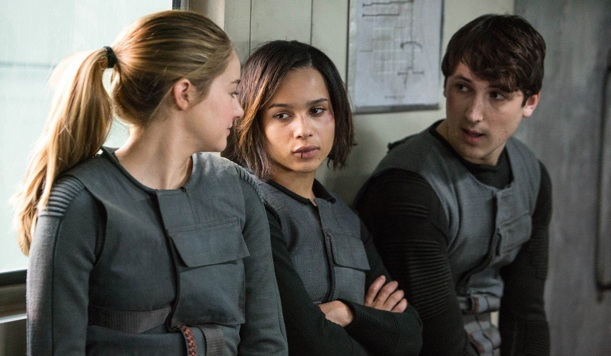 Shailene Woodley, Zoe Kravitz and Ben Lloyd-Hughes in Divergent