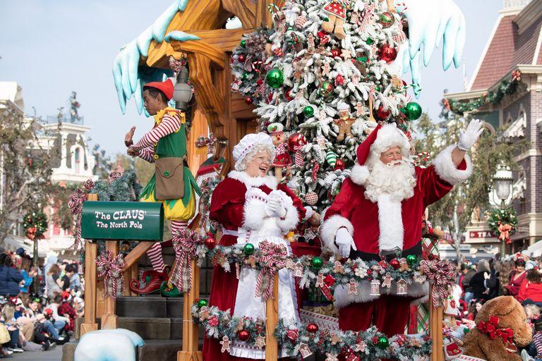 Christmas movies on Disney Plus including the Disney Parks Magical Christmas Day Parade
