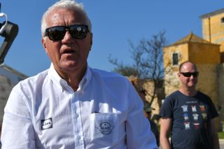 TAVIRA PORTUGAL FEBRUARY 21 Start Patrick Lefevere of Belgium CEO of Deceuninck QuickStep Team of Belgium during the 46th Volta ao Algarve 2020 Stage 3 a 2019Km stage from Faro to Tavira VAlgarve2020 on February 21 2020 in Tavira Portugal Photo by Tim de WaeleGetty Images