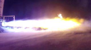 Blue Origin's BE-4 engine test