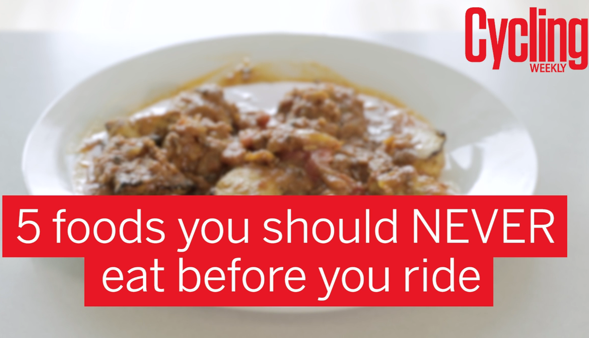 Five foods you should NEVER eat before a ride (video)