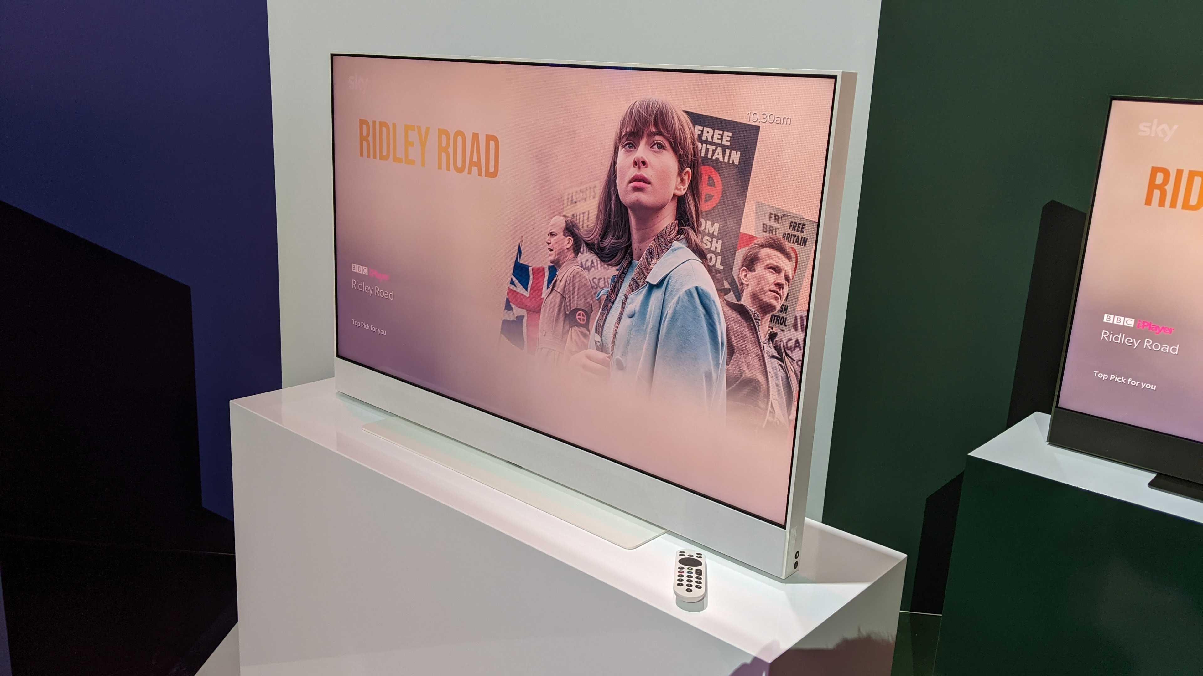 Sky Glass TV and remotes