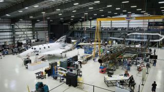 Virgin Galactic's Newest Spaceship Just Got Its Wings (Photos)