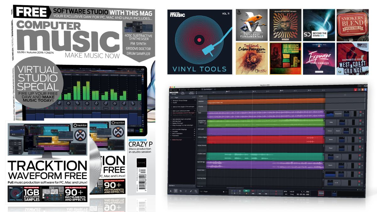 Get a full virtual studio with Computer Music issue 274