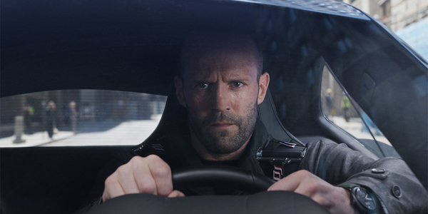 Jason Statham driving in Fate of the Furious F8