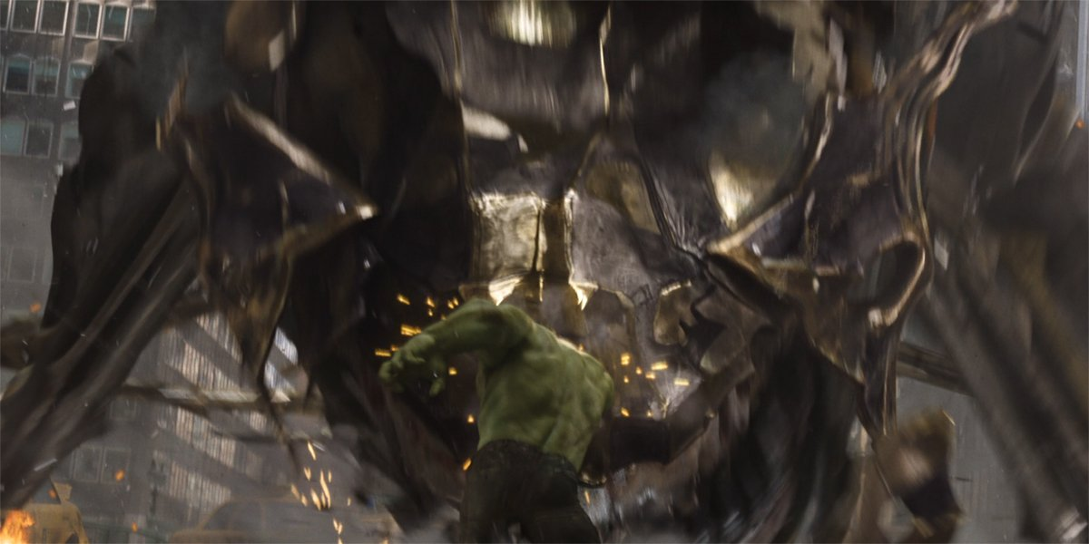 Hulk punches leviathan in Avengers