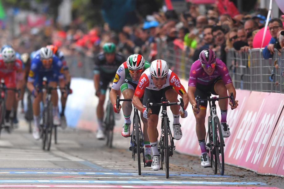 Sheer 'determination' delivered Giro d'Italia stage eight victory, says Caleb Ewan
