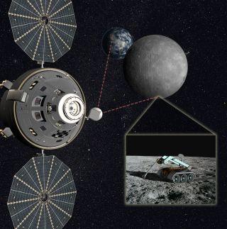orion earth moon telerobotics astronauts