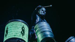 Slipknot's Clown behind kit