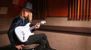 Kenny Wayne Shepherd with his new signature Fender Stratocaster