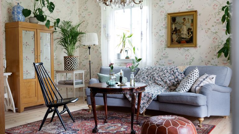swedish living room wallpaper