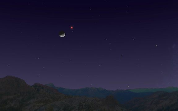 See Mars Near the Moon in the Night Sky Tonight! Here's How  | Space