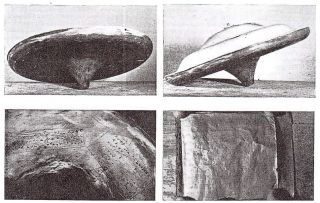 """The """"flying saucer"""" captivated the U.K. press in 1957."""