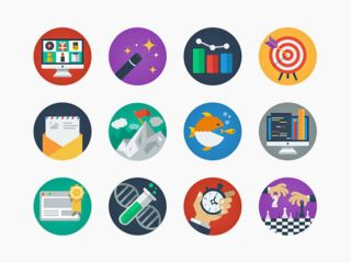 Selection of colourful icons