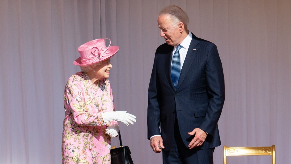 The Queen shows 'warmth' and an 'attentive' nature towards Joe Biden during their first meeting at Windsor Castle