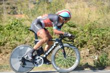 Fabian Cancellara (RadioShack Leopard) en route to victory in the Vuelta's stage 11 time trial