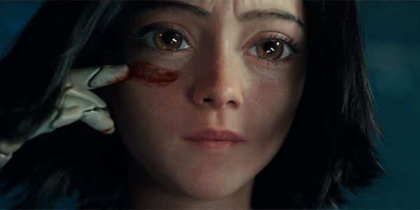 Still From Alita: Battle Angel, directed by Robert Rodriguez