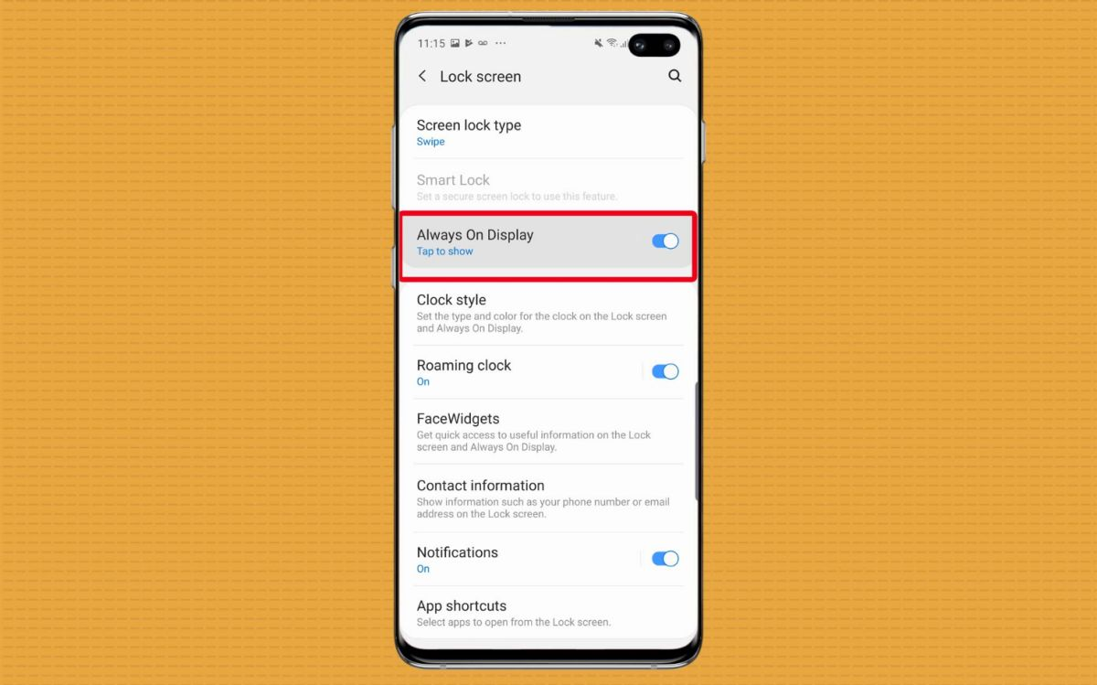 How to Set Up the Galaxy S10's Always On Display | Tom's Guide