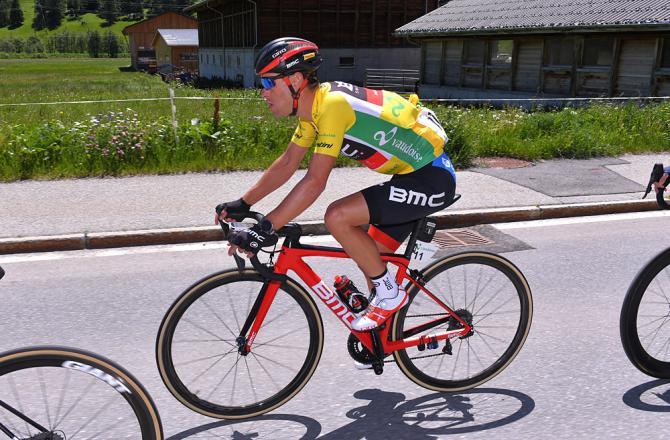 Overall leader Richie Porte (BMC) during stage 6 at Tour de Suisse