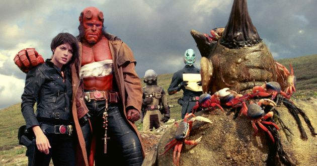 SELMA BLAIR, RON PERLMAN  HELLBOY II: THE GOLDEN ARMY (aka Hellboy 2)  ? Universal