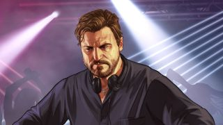 An illustration of Solomun's appearance in GTA Online