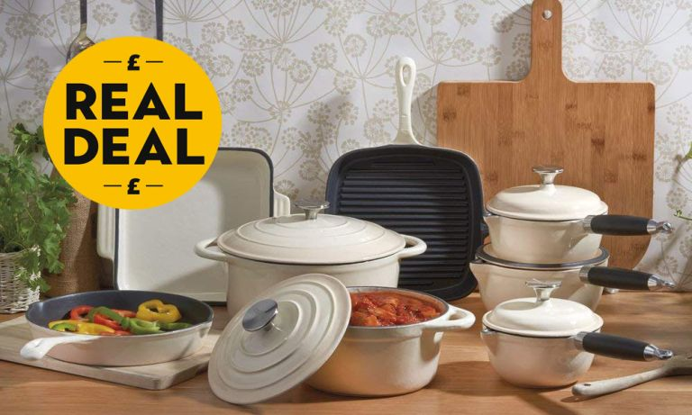 Le Creuset dupe: Cooks Professional Three-, Five- or Eight-Piece Cast Iron Set in Choice of Colour