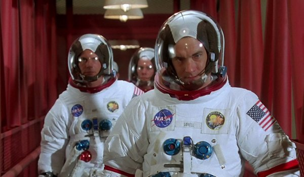 Apollo 13 Kevin Bacon Bill Paxton and Tom Hanks are suited up, walking to the space capsule
