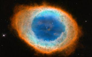 Ring Nebula Messier 57 space wallpaper