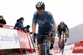 Vuelta Espana 2021 - 76th Edition - 17th stage Unquera - Lagos de Covadonga 185,8 km - 01/09/2021 - Miguel Angel Lopez (COL - Movistar Team) - photo Luis Angel Gomez/BettiniPhoto©2021