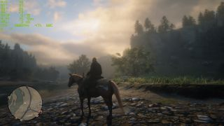 Red Dead Redemption 2 at 720p isn't the prettiest.