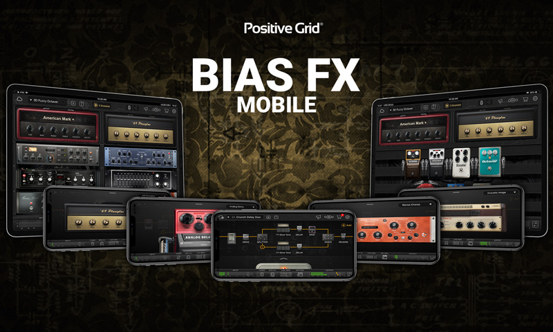 Positive Grid Offers Free Limited Time Trial of BIAS FX Mobile Amps & Effects App
