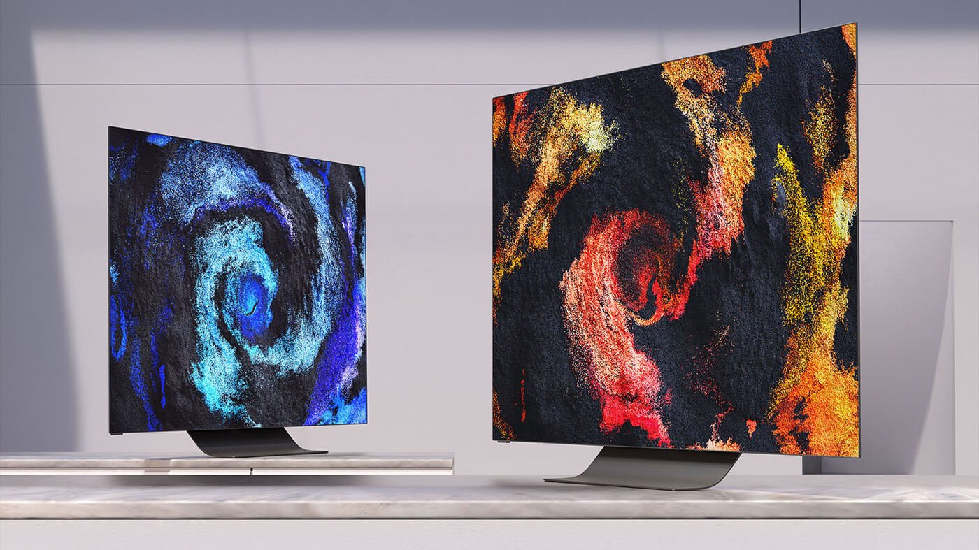 Two Vizio OLED TVs displayed side by side