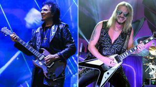 [L-R] Tony Iommi and Richie Faulkner