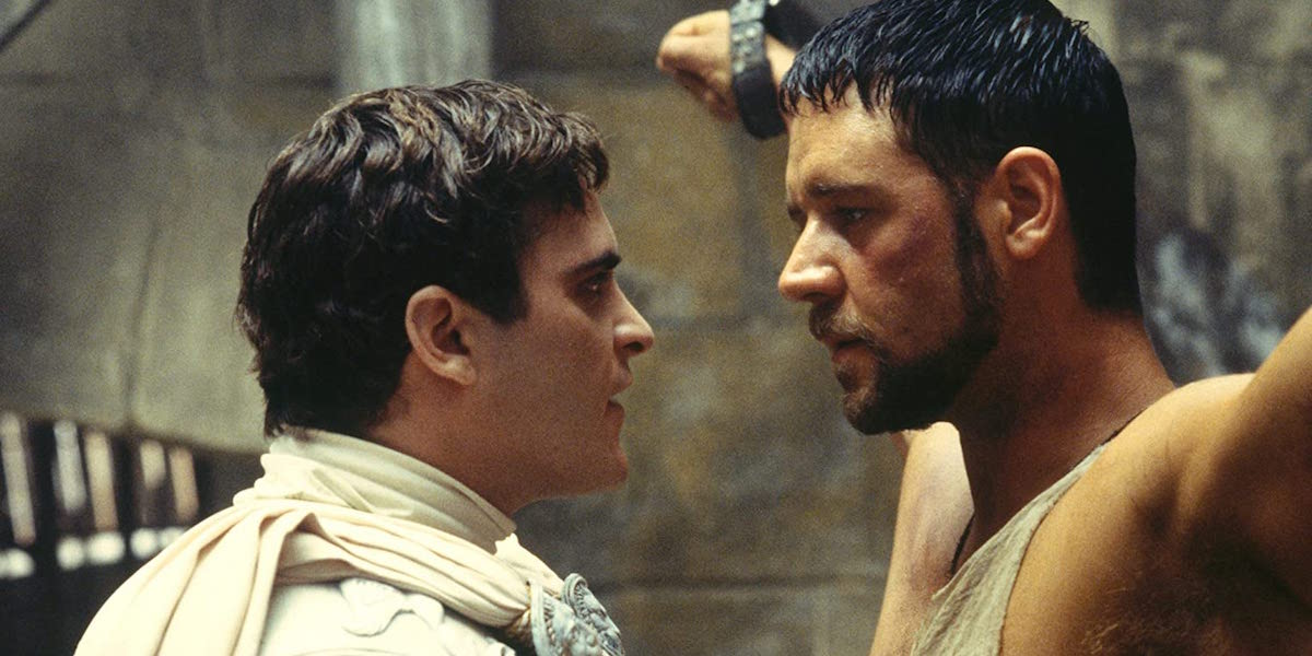 Joaquin Phoenix and Russell Crowe in Gladiator