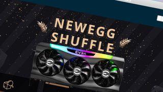 EVGA rtx 3090 on a Newegg Shuffle banner