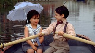 "Brittany Ashton Holmes and Bug Hall in ""The Little Rascals'"