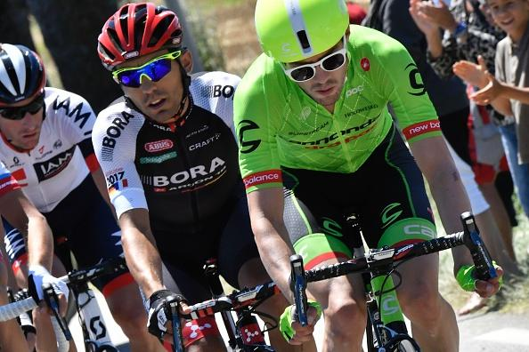 Alex Howes (Cannondale-Drapac) leads the break of the day