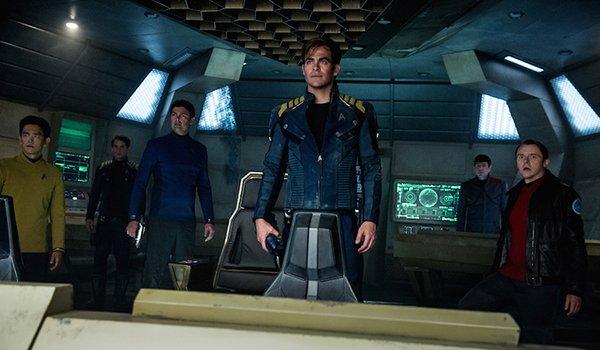 The crew of the Enterprise in Star Trek Beyond