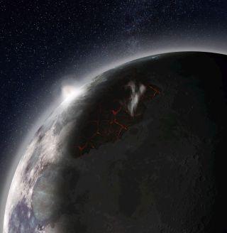 Earth's moon art
