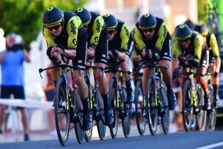 Mitchelton - Scott in the 2019 Vuelta a Espana team time trial