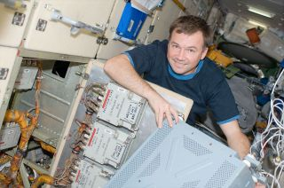 Cosmonaut Yuri Lonchakov, seen here on board the International Space Station in 2008, resigned from the Russian federal space agency, despite being assigned to a 2015 mission.