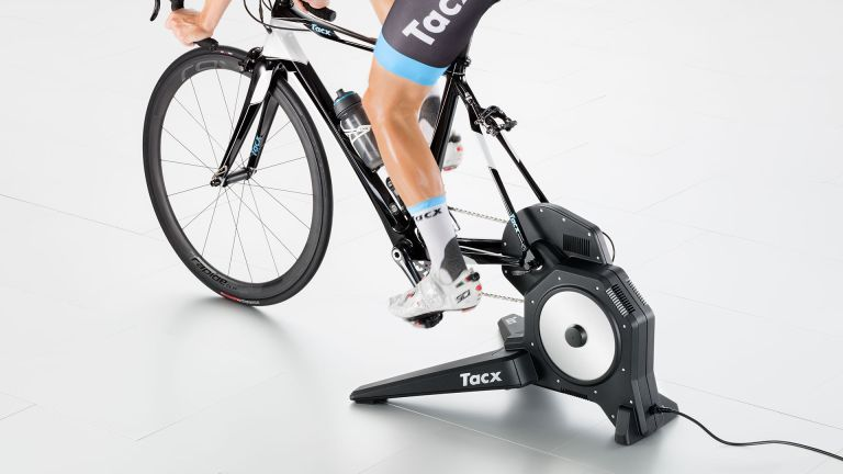 Best turbo trainer: Tacx turbo trainer in use